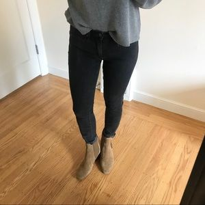 Washed Black Gap 1969 Skinny Jeans